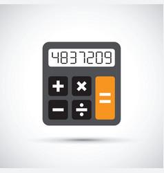 a simple calculator vector image vector image