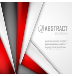 Abstract background of red white and black vector image vector image