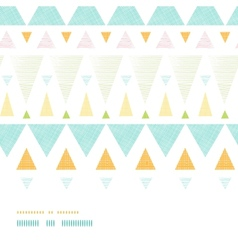 Abstract ikat triangles stripes horizontal vector