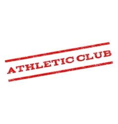 Athletic club watermark stamp vector