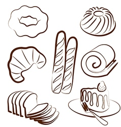 Bakery set 2 vector