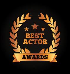 Best actor award wreath laurel ribbon vector