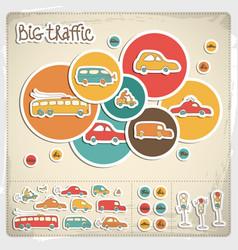 Big traffic set vector