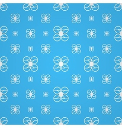 Blue background for quadrocopter vector image
