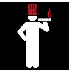 Capitalist icon vector image vector image