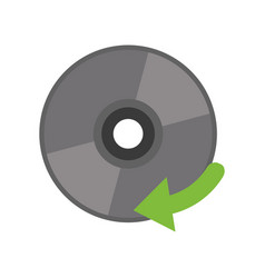 Compact disk digital game vector
