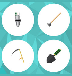 flat icon dacha set of tool trowel pump and vector image vector image
