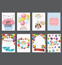 happy birthday holiday greeting and invitatio vector image vector image