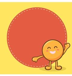 Happy Orange Mascot Notes vector image vector image