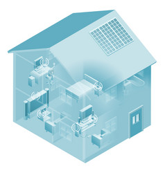 Home local area network house vector