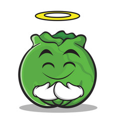innocent cabbage cartoon character style vector image