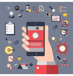 Mobile time management vector