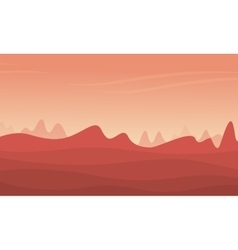 Mountain and desert landscape vector
