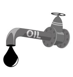 Oil pipe vector