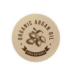 organic argan oil emblem vector image