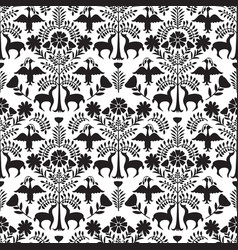 otomi style pattern vector image vector image