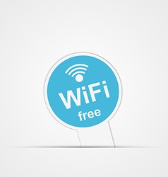 Paper sticker Free Zone wi-fi Isolated vector image