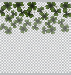 Patrick s day image translucent clover leaves on vector
