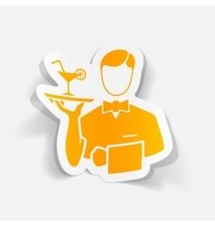 realistic design element waiter vector image