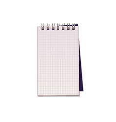 realistic of notebook with square paper vector image vector image