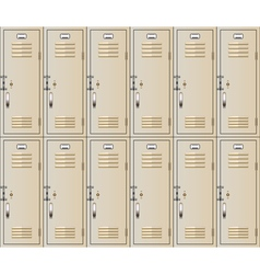 school lockers vector image