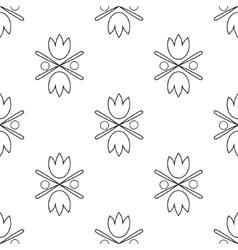 Seamless tulips pattern vector