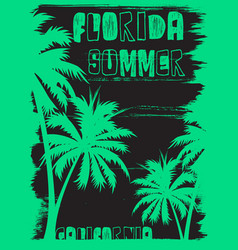 summer tee graphic design florida california vector image