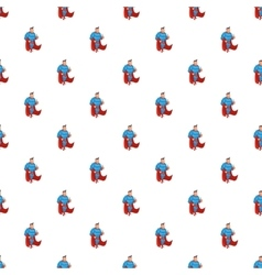 Superhero standing pattern cartoon style vector