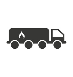 Truck fuel tank isolated icon vector