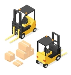 Lift truck isometric vector