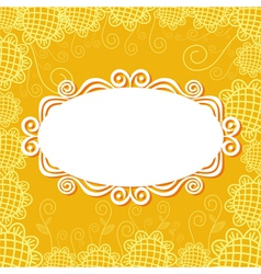 Floral pattern card background vector