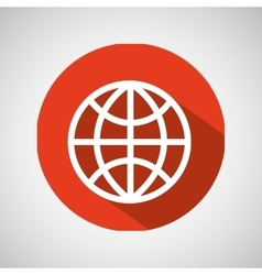 Globe technology internet design icon vector