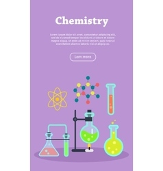 Chemistry web banner website template vector