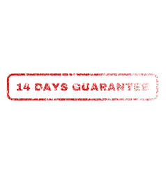 14 days guarantee rubber stamp vector image
