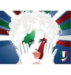 Crowd goes wild italy vector