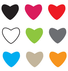Set hearts icon on white background hearts sign vector