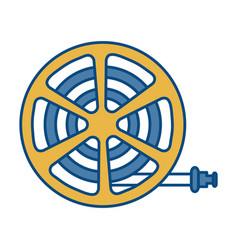 Garden hose icon vector