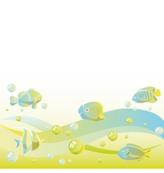 abstract dreamy water background vector image