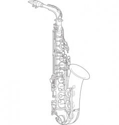 Saxophone sketch vector