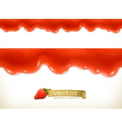 Red sweet drops seamless vector