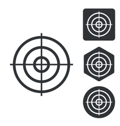 Aiming mark icon set monochrome vector