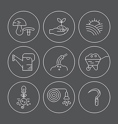 Agricultural Icons vector image