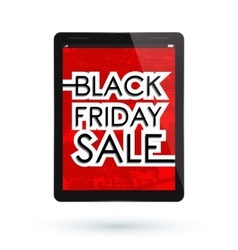 Black Friday tablet vector image