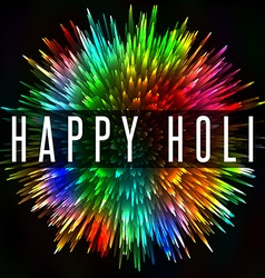 Happy holi indian spring festival colorful splash vector