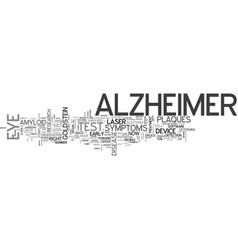 Alzheimers drug text word cloud concept vector