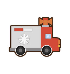 Ambulance service transport emergency vector