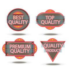 badge retro stamp quality vintage label sticker vector image vector image