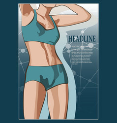 Beautiful sexy fitness girl vector