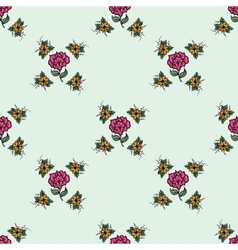 Beautiful vintage seamless floral background vector