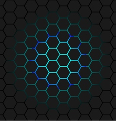 Black honeycomb vector